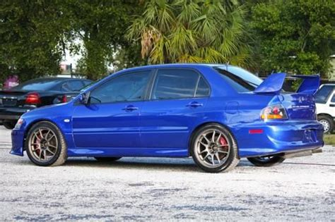 how things work cars 2006 mitsubishi lancer parking system purchase used 2006 mitsubishi lancer evolution 9 gsr blue 82k works hks mivec turbo ct9a evo9 in