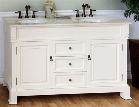 60 inch sink bathroom vanity in creamwhite
