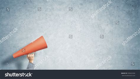 How To Make A Paper Trumpet That Plays - announcement paper trumpet stock photo