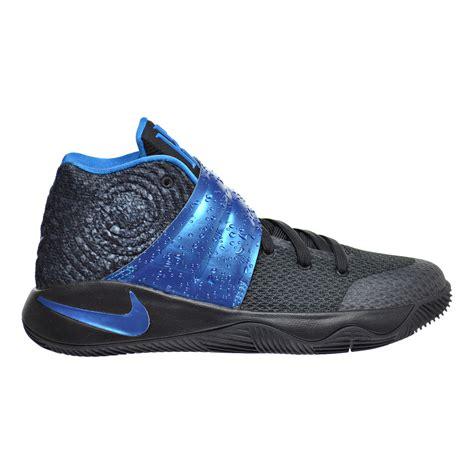 black kid shoes nike kyrie 2 gs big kid s shoes black blue glow