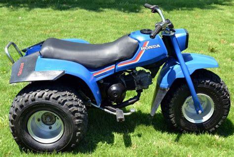 honda atc 110 3 wheeler three wheeler 1983 blue honda 110 atc atv 98