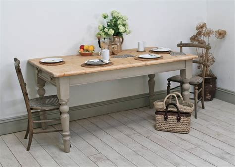 distressed pine country kitchen table by distressed but