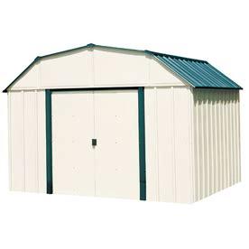 shop arrow vinyl coated steel storage shed common 10 ft shop arrow vinyl coated steel storage shed common 10 ft