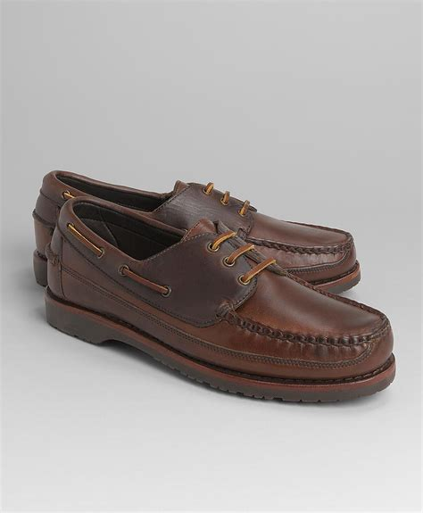 brothers shoes brothers mini lug sole boat shoes in brown for