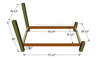 How Many Inches Is A Size Bed Frame Size Bed Frame Plans Howtospecialist How To Build