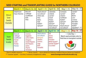 Garden Calendar Zone - seed starting planting calendar gardening pinterest
