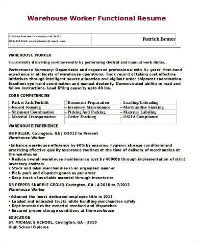 warehouse associate resume sample warehouse worker resume example