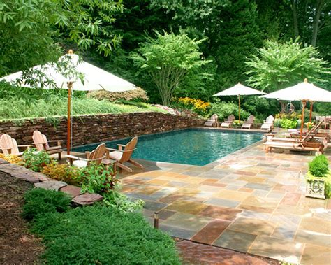 poolside landscaping designing your backyard swimming pool part i of ii