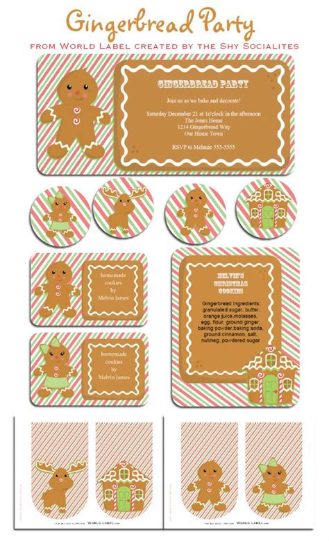 free printable gingerbread man labels 63 best gingerbread house printable template images on