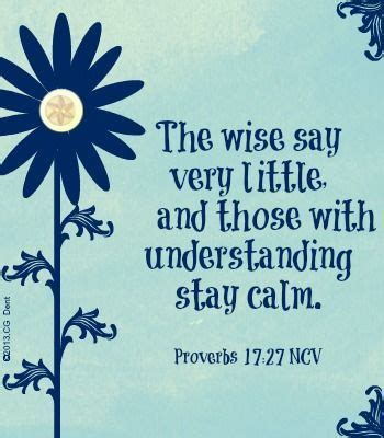 proverbs 17 27 words from the good book pinterest