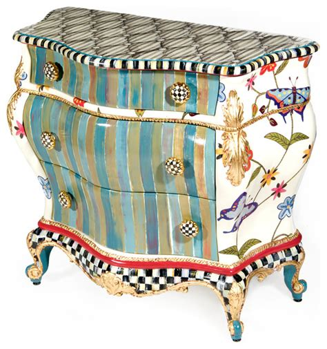 Mackenzie Childs Furniture by Butterfly Large Chest Mackenzie Childs Eclectic