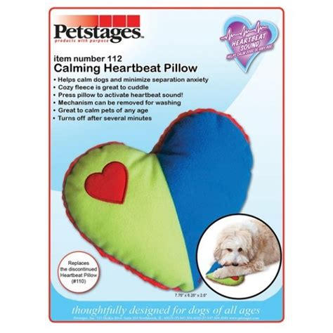 heartbeat stuffed animal for puppy heartbeat pillow for puppies or dogs 8 25 in