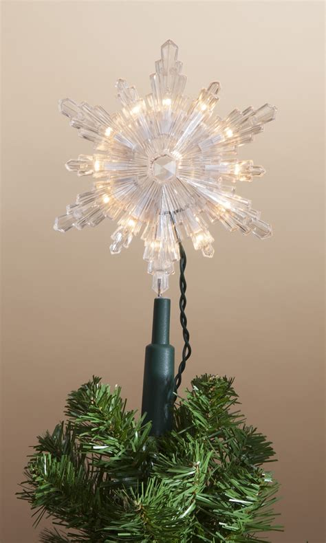 incandescent snowflake tree topper at hooked on hallmark