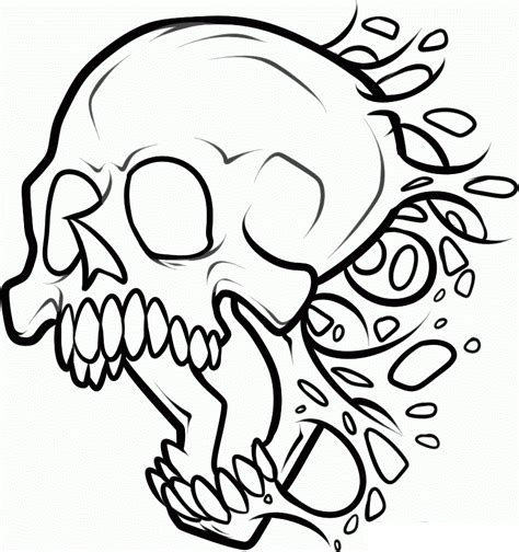 skull and bones coloring pages coloring home