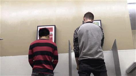public gay bathroom prank animated gif