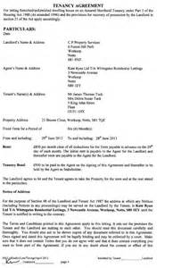 Free Shorthold Tenancy Agreement Template Uk Tenancy Agreement To Uk