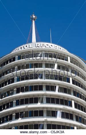 Los Angeles Records Free Capitol Records Building In Los Angeles California Usa Stock Photo