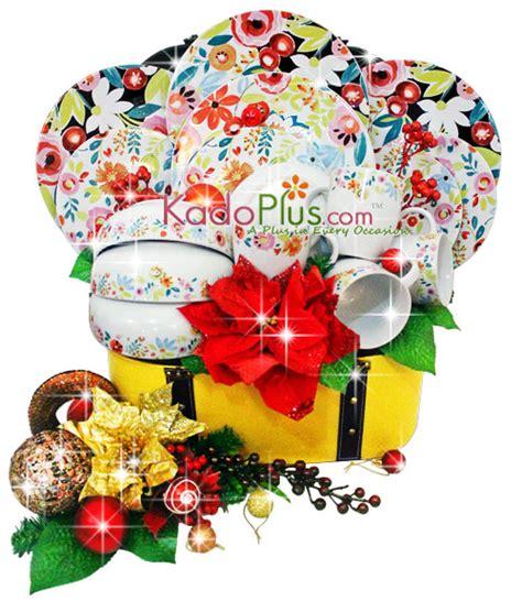 Piring Plate Florist parcel keramik natal dinner set 7 toko bunga