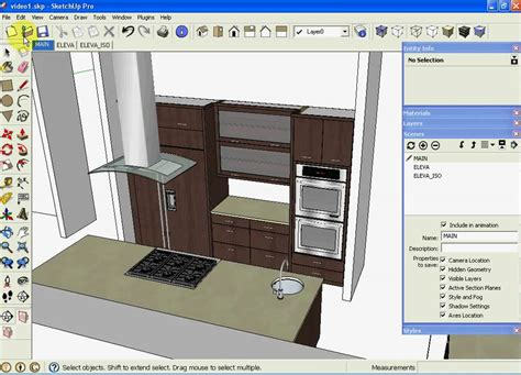 sketchup kitchen layout sketchup kitchen design using dynamic component cabinets