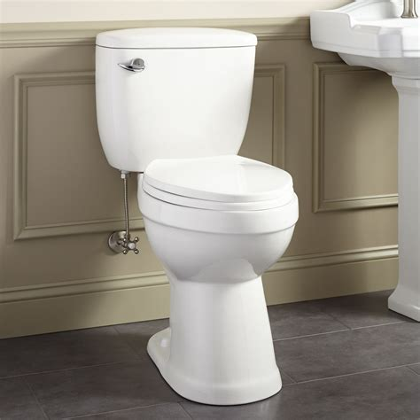 bathroom with two toilets stalnaker siphonic elongated two piece toilet ada