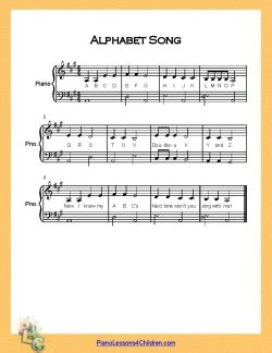row your boat piano notes letters alphabet song abc song lyrics videos free sheet