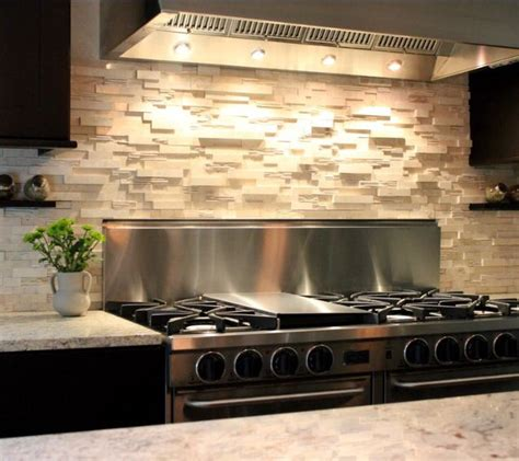 stacked stone kitchen backsplash stacked stone backsplash for the home pinterest