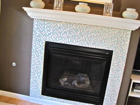 mosaic tiled fireplace diy project