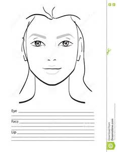 makeup charts template chart makeup artist blank stock illustration image