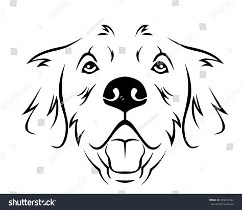 golden retriever logo breed line logo golden stock vector 438251542