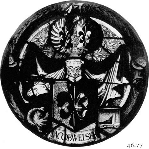 heraldic panel with arms of jacob welser corpus