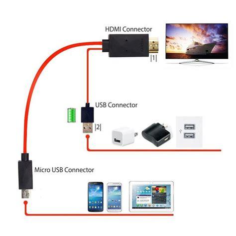 Micro Usb To Hdmi 1080p Tv Hd Samsung Galaxy Note 432 S3s5s5 1 8 m 5pin mhl micro usb to hdmi converter 1080p hd tv cable adapter for samsung galaxy note3
