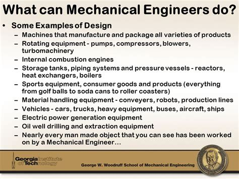 Why I Chose Mechanical Engineering Essay by Faset Agenda Woodruff School Overview Mechanical Engineering Overview Ppt