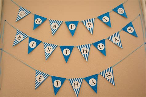 Flipawoo Invitation And Party Designs Happy Birthday Bunting Banner Free Printable Happy Birthday Banner Template