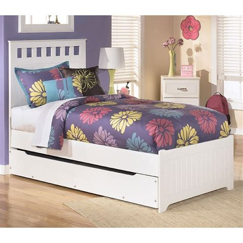 ashley furniture trundle bed lulu panel bed w trundle signature design by ashley