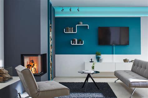 moderne wohnzimmer wandgestaltung gestreifte wandgestaltung bilder ideen