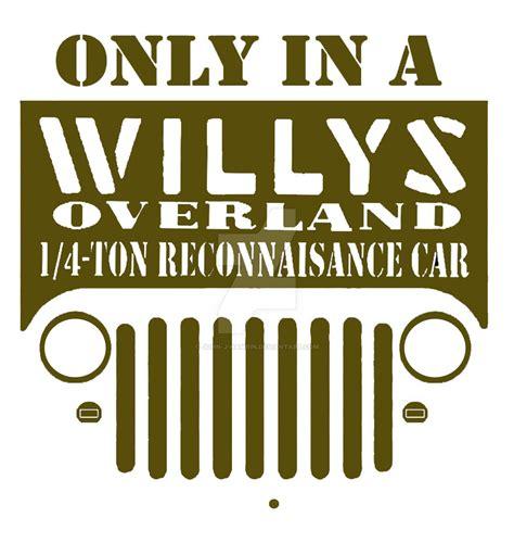 willys jeep logo willys jeep logo by john j hamrin on deviantart