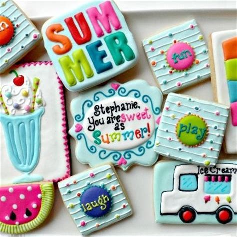 Summer Cookie Decorating Ideas by 103 Best Images About Decorated Cookies On Summer Cookies Baby Shower Cookies And