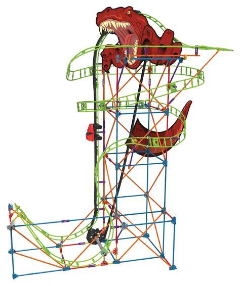 Roller Coaster Track Dinosaur k nex thrill rides t rex fury roller coaster building set