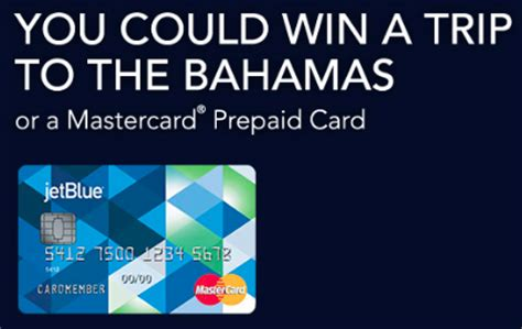 Jet Blue Sweepstakes - win a trip to the bahamas or a mastercard prepaid card from jetblue