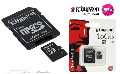 Micro Sd 16gb Kingston 161 16gb memoria microsd kingston micro sd y adapt sd 16gb apreciosderemate