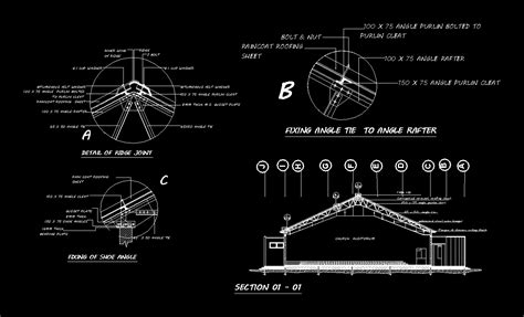 truss section detail metal truss detail dwg section for autocad designs cad