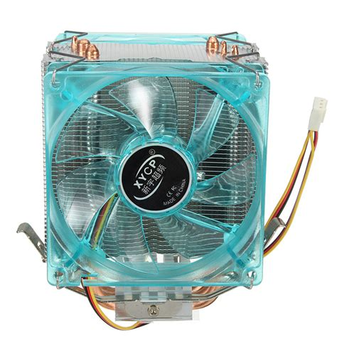 Xycp Dual Fan Quiet Cpu Cooler Heat Sink For Intel Lga1155