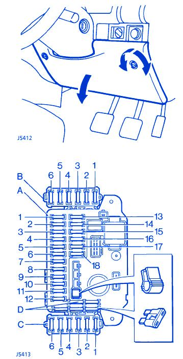 2003 land rover discovery fuse box diagram wiring