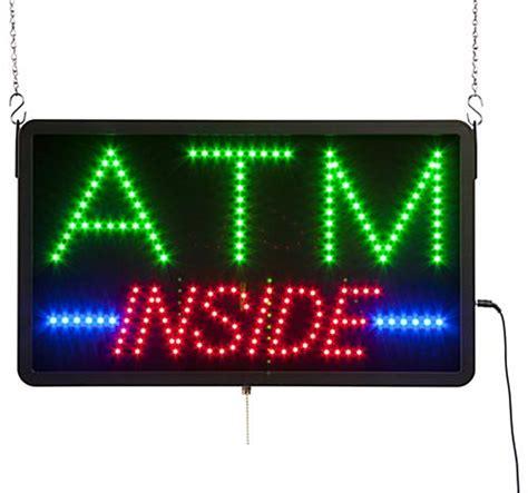 Sign Led Atm led quot atm quot sign blue green