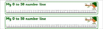 printable integer number line to 50 4 best images of printable number line 0 50 large