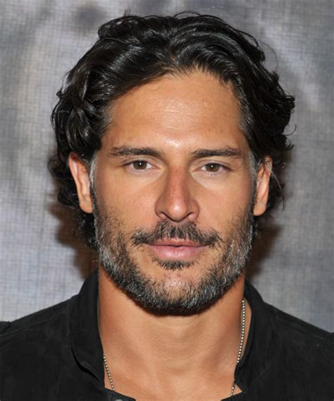 Joe Manganiello Short Wavy Casual Hairstyle   Black