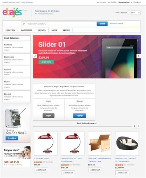 50 awesome free magento templates utemplates