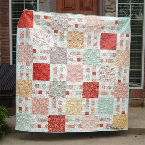 quilt pattern using layer cake picket fence 6 sizes layer cake by busyhandsquilts