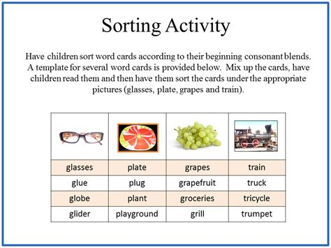 card sort template word reading2success consonant blend cards sorting activity