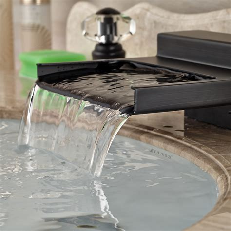 water from bathroom sink yakso dual handle rubbed bronze water fall bathroom